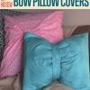 DIY No Sew Bow fundas de almohada Dos Caminos