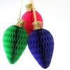 Bricolaje Honeycomb Bulbos de la Navidad