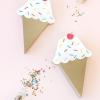 Caja Treat DIY del cono de helado