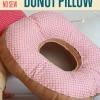 DIY No Sew Donut Almohada