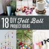 Proyectos DIY con bolas de fieltro