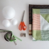 Tela Scrap DIY cubierto de espuma de poliestireno bolas