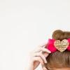 Bricolaje Lentejuela corazón arcos del pelo