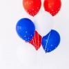 Bricolaje estrella Spangled confeti Globos