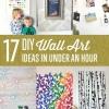 DIY arte de la pared que usted puede hacer en menos de una hora
