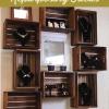 Bricolaje Estantes caja de madera