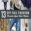 Fall tendencias de la moda que usted puede DIY en el barato