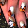 Caída Nail Art | DIY Calabaza Diseño Tutorial (VIDEO)