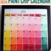 Diversión y creativo de pintura bricolaje chip Calendario