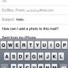 Cómo agregar una foto en un correo electrónico, mientras que la componen.
