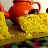 Cómo cocinar un pastel de coco y cúrcuma