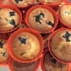 Cómo cocer al horno Muffins Fácil Americana Bluberry