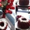 Cómo cocer al horno torta de terciopelo rojo