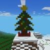 Cómo construir un árbol de Navidad en Minecraft (Pixel Art)