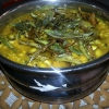 Cómo cocinar Olan (Black Eye Guiso de guisantes Keralan con la calabaza)