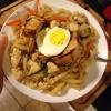 Cómo cocinar simples deliciosas pollo frito Udon