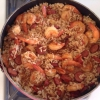 Cómo cocinar camarones salchicha picante Arroz My Way