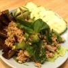 Cómo cocinar picante de cerdo Ensalada tailandesa de tierra