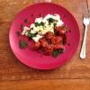 Cómo cocinar al vapor Filete de pescado con la cereza Tomates Side