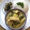 Cómo cocinar curry verde tailandés de pollo con albahaca