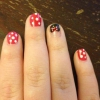 Cómo crear Minnie Mouse Nail Art