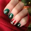 Cómo crear Santa y Elf traje de uñas