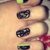 Cómo hacer geométrica Line Nails
