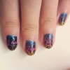 Cómo hacer Rainbow Crackled Nails