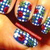 Cómo Dot y flor Nail Art
