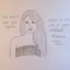 Cómo dibujar Taylor Swift