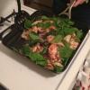 Cómo Grill saludable ajo espinacas pollo