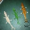 Cómo hacer un llavero con cuentas Lizard