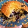 Cómo hacer un Muffins de arándanos y limón cuajada con un toque
