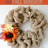 Cómo hacer una corona de arpillera | Manualidades bricolaje para el otoño