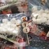 Cómo hacer un muñeco de nieve de la melcocha