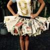 Cómo hacer una falda Periódico