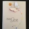 Cómo hacer una tarjeta de la mariposa del arco iris