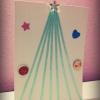 Cómo hacer un árbol de navidad de la cinta tarjeta