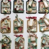 Cómo hacer una serie de mini Navidad Etiquetas Con Gráfico 45