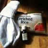 Cómo hacer un calcetín / arroz Placa Térmica