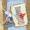 Cómo hacer una tarjeta temática de Texas con papel Wings Sellos