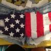 Cómo hacer pantalones cortos de la bandera americana