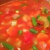 Cómo hacer una, sopa de verduras abundante tomate Fácil