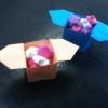 Cómo hacer una caja del favor de Origami / contenedor abierto