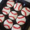 Cómo hacer Toppers béisbol de la galleta de la magdalena