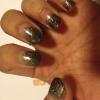 Cómo hacer Negro Sparkle Ombre Nails