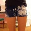 Cómo hacer Bleach Blotched Shorts
