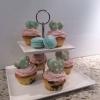 Cómo hacer Blueberry besos Cupcakes