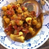 Cómo hacer mantequilla pollo y garbanzos Stew