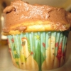 Cómo hacer magdalenas de chocolate Galleta con trozos de masa rellena